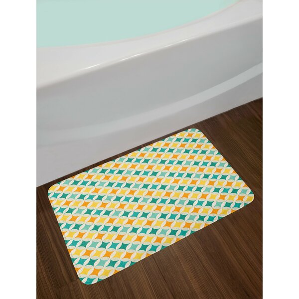 Geometric Abstract Colorful Bath Rug by East Urban Home