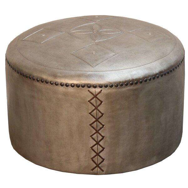 Free Shipping Pascual Puff Leather Pouf Ottoman