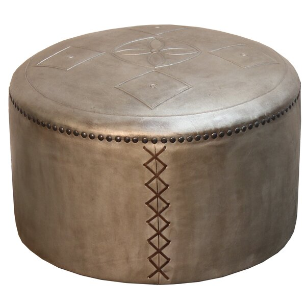 Read Reviews Pascual Puff Leather Pouf Ottoman