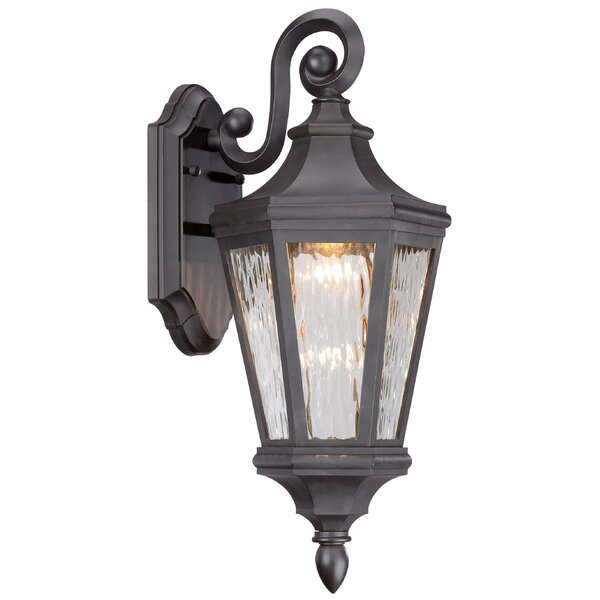 Deziree 1-Light  Glass Shade Outdoor Wall Lantern by World Menagerie