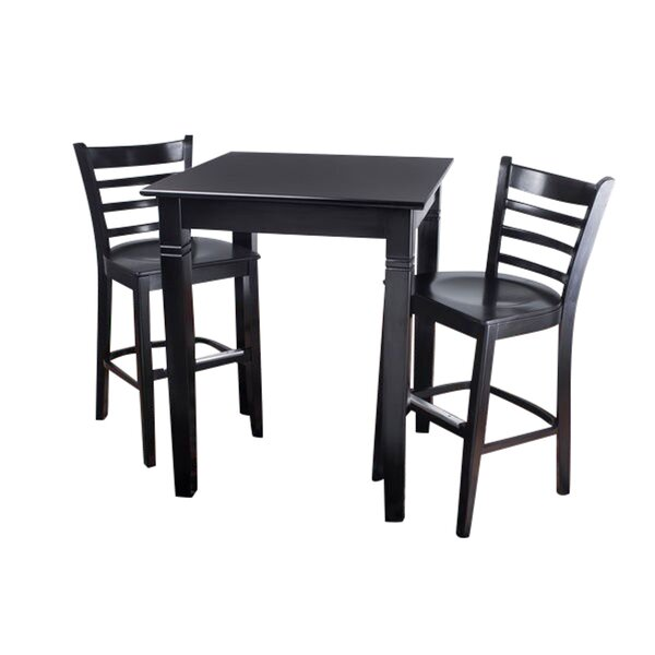 Eaglin Ladderback 3 Piece Pub Table Set by Darby Home Co