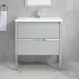 Reviews Kielbasa 32 Wall-Mounted Single Bathroom Vanity Set ByOrren Ellis