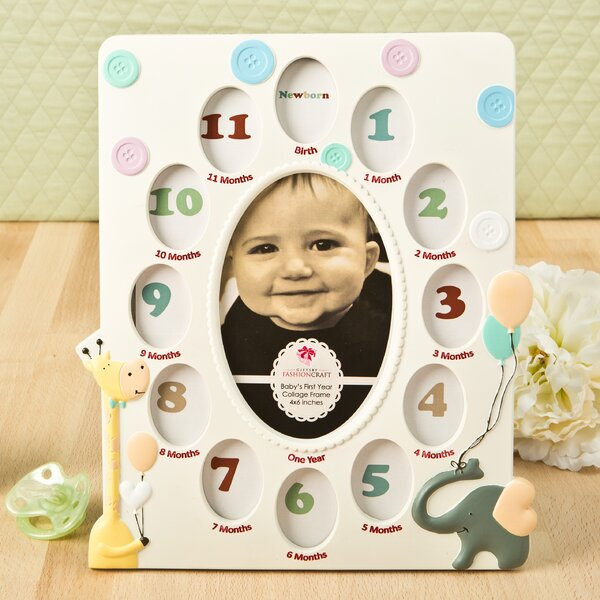 Giraffe and Elephant Baby Collage Picture Frame by Fashion Craft