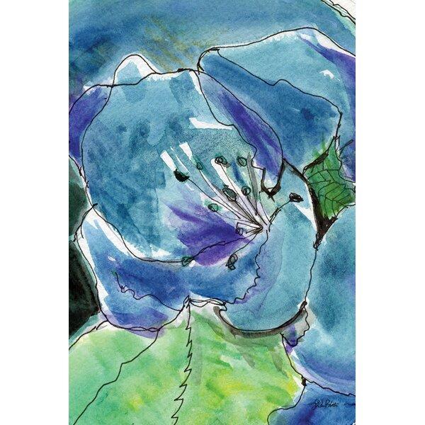 Watercolor Blue Lilies Garden flag by Toland Home Garden