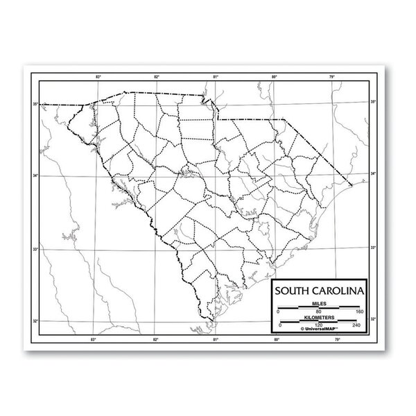 Outline Map - United States by Universal Map