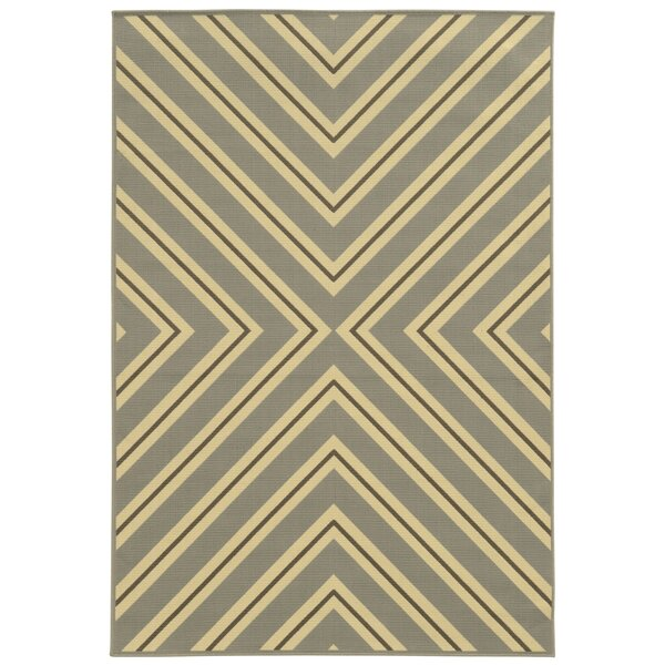Heath Grey/Ivory Indoor/Outdoor Area Rug by Ebern Designs