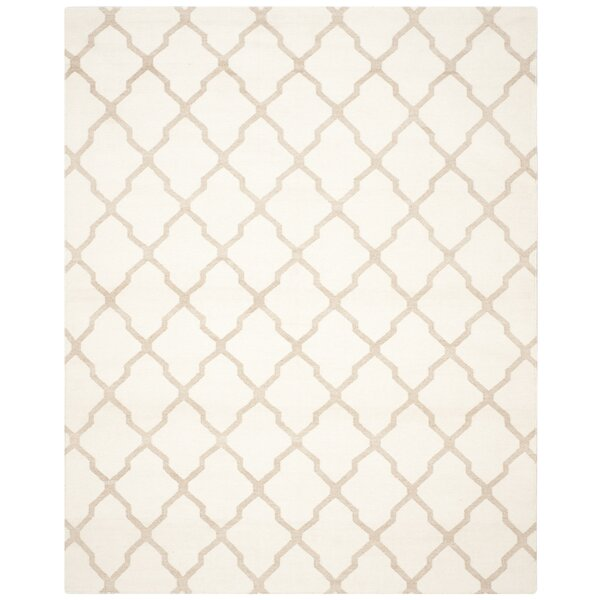 Dhurries Ivory/Camel Area Rug by Safavieh