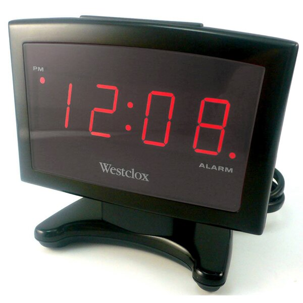 Electric Plasma LED Alarm Clock by Westclox Clocks