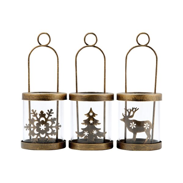 3 Piece Glass Lanterns Set by Loon Peak