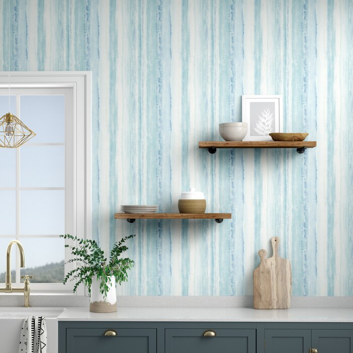 Deidre Stripe 16 5 L X 20 5 W Abstract Peel And Stick Wallpaper Roll