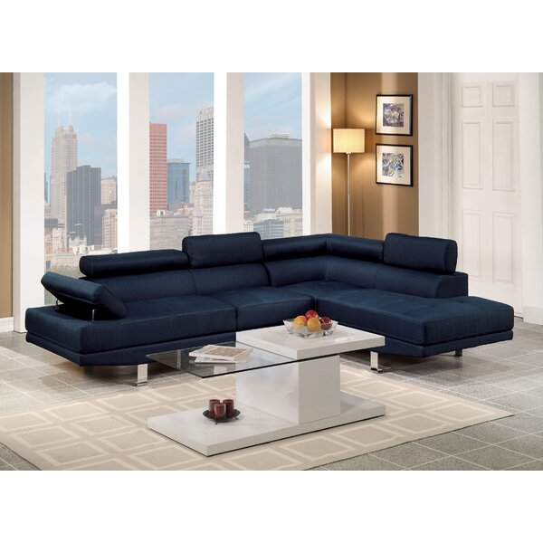 Modern Style Sophia Sectional by A&J Homes Studio by A&J Homes Studio