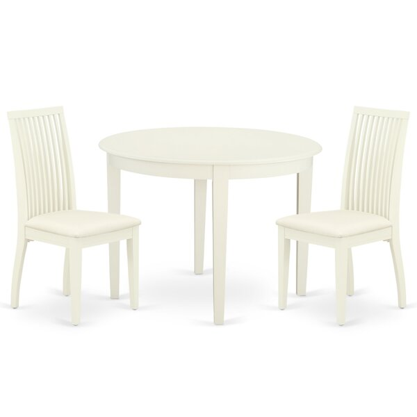 Ardoin 3 Piece Solid Wood Breakfast Nook Dining Set by Winston Porter Winston Porter
