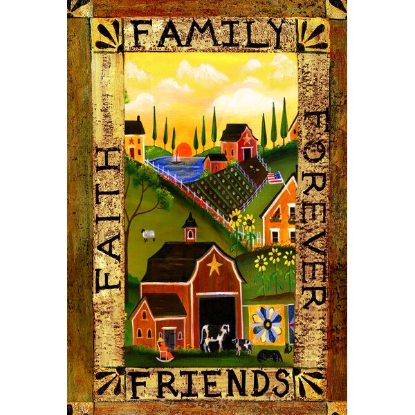 Americana Farm Garden flag by Toland Home Garden