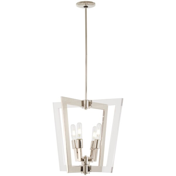 Portwood 4 - Light Lantern Square Chandelier By Mercer41