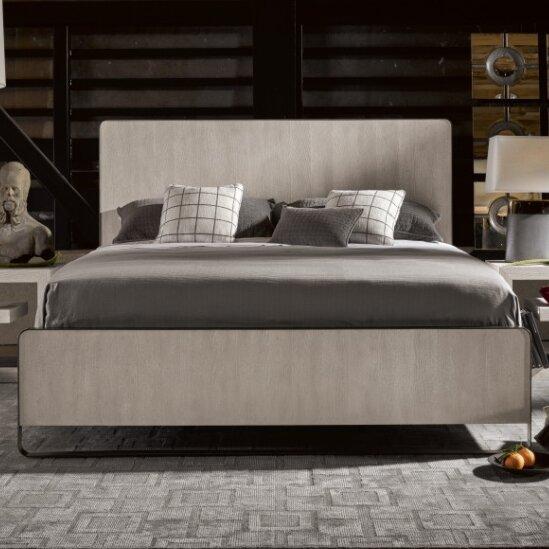 Naomi Bronze Metal Panel Bed by 17 Stories