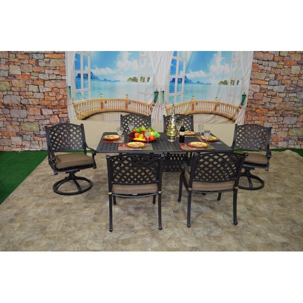 Wes 7 Piece Dining Set with Cushions by Darby Home Co