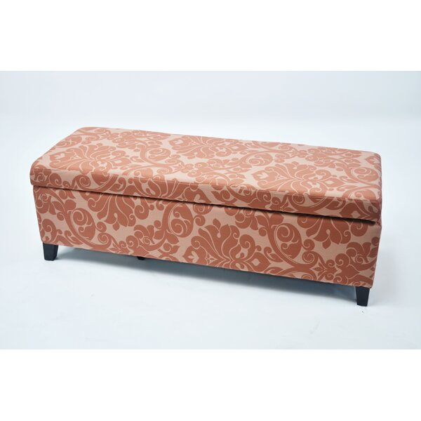 Donahue Flower Upholstered Storage Bench by Red Barrel Studio