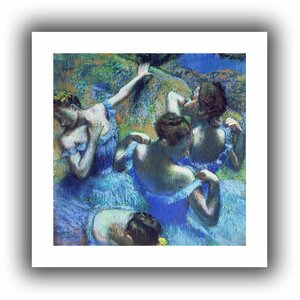 Blue Dancers' by Edgar Degas  Painting Print on Rolled Canvas by ArtWall