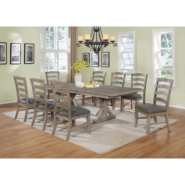 Stevan 9 Piece Extendable Dining Set by Canora Grey