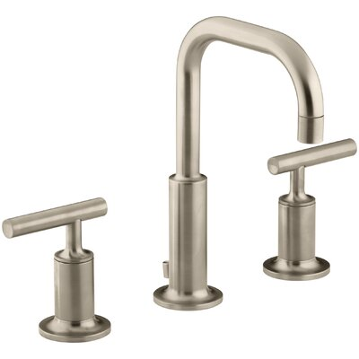 Faucet Drain Low Handles Low Brushed Bronze photo