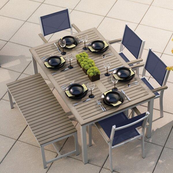 Farmington 6 Piece Aluminum Frame Dining Set by Latitude Run