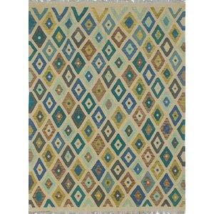 Vallejo Kilim Hand Woven Wool Beige Southwestern Area Rug
