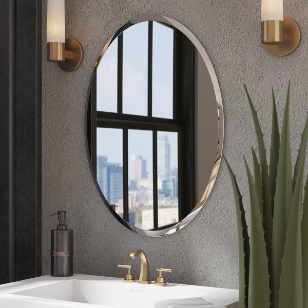 Bathroom Mirrors.Walnut Bathroom Mirror Wayfair