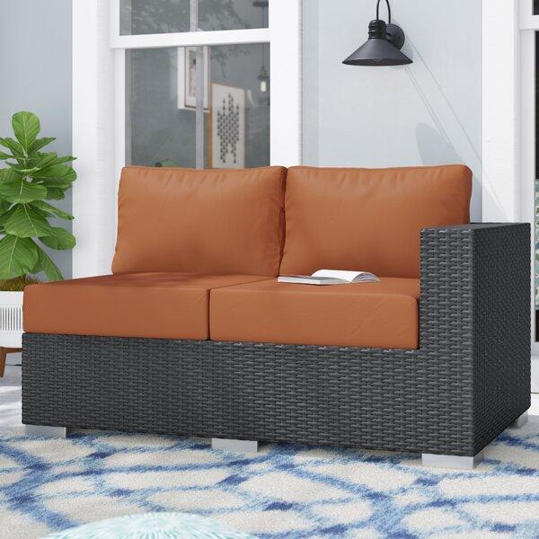 Tripp Right Arm Loveseat with Sunbrella Cushions by Brayden Studio