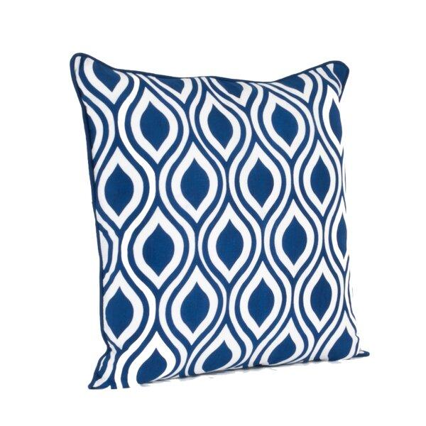 Teardrop Design Printed Throw Pillow by Zipcode Design