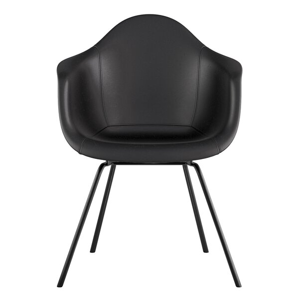 Turcot Genuine Leather Upholstered Dining Chair by Comm Office