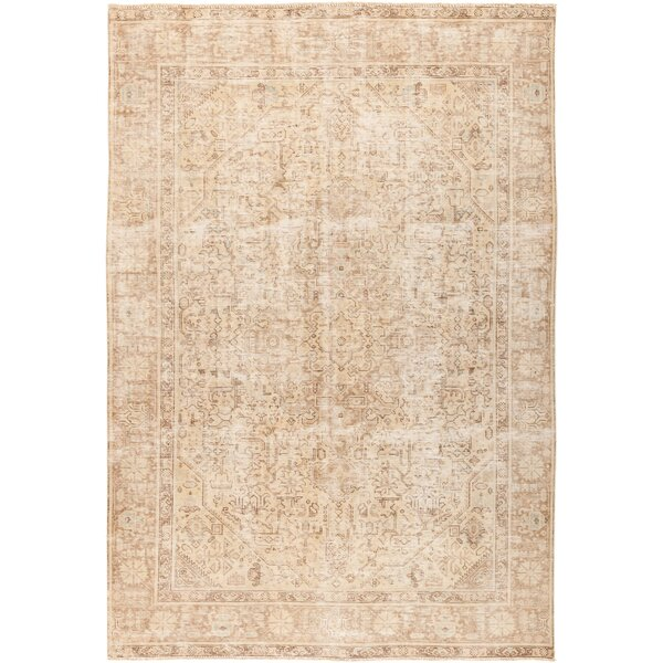 One-of-a-Kind Courtland Hand Knotted Beige Area Rug by Bungalow Rose