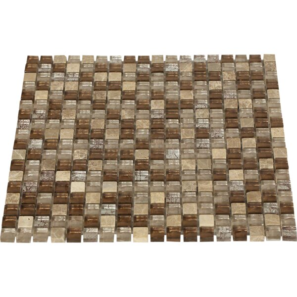 Outback 0.5 x 0.5 Mixed Material Mosaic Tile in Brown by Splashback Tile