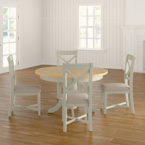 Will Round Extendable Dining Set with 4 Chairs August Grove