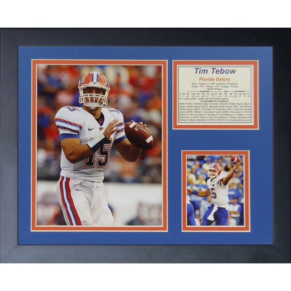 Tim Tebow - Gators Away Framed Memorabilia by Legends Never Die