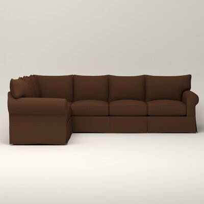 Birch Lane Heritage Slipcovered Shaped Sectional Fabric Sectionals