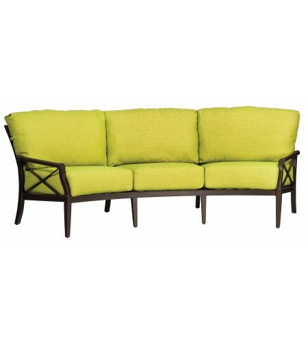 Andover Crescent Patio Sofa with Cushions by Woodard