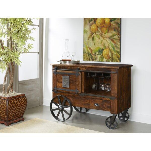 Jaeden Two Door One Drawer Bar Cart by Gracie Oaks Gracie Oaks