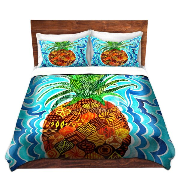 Creline Rachel Brown Psychedelic Pineapple Microfiber Duvet Covers