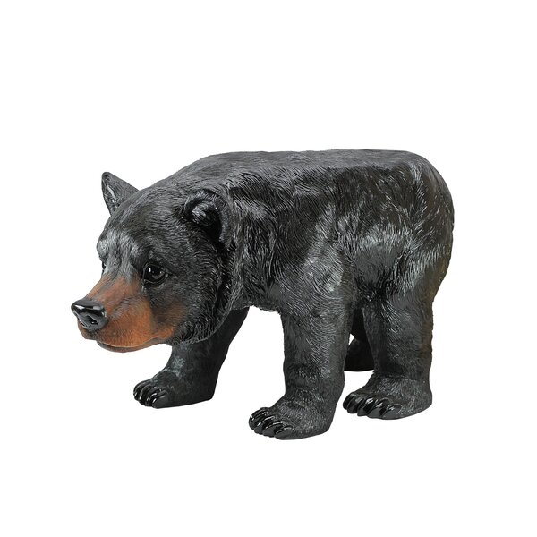 Black Bear Sculptural Stool by Design Toscano
