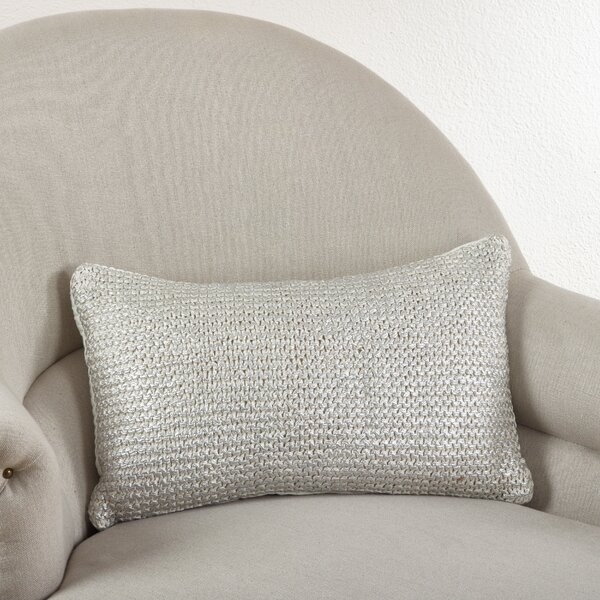Hiran Knitted Cotton Lumbar Pillow by Willa Arlo Interiors