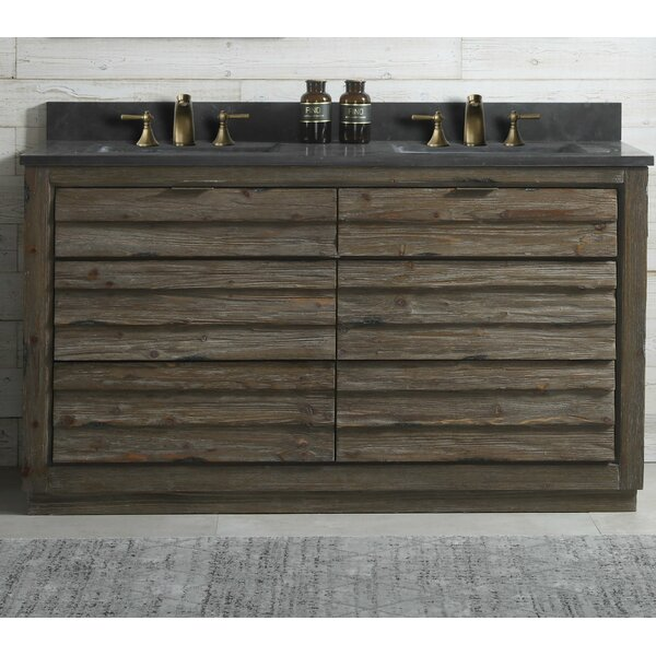 Docia Wood 60'' Double Bathroom Vanity Set by Union Rustic