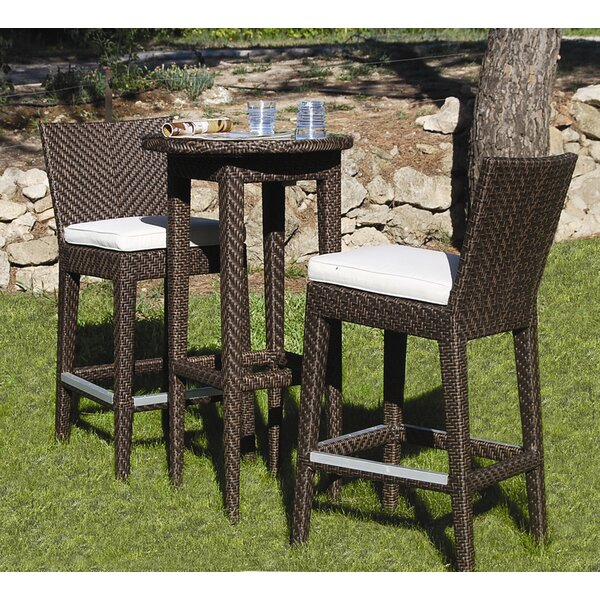 Soho 3 Piece Bar Height Dining Set by Hospitality Rattan