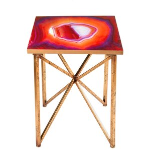 Rouge End Table by Statements by J