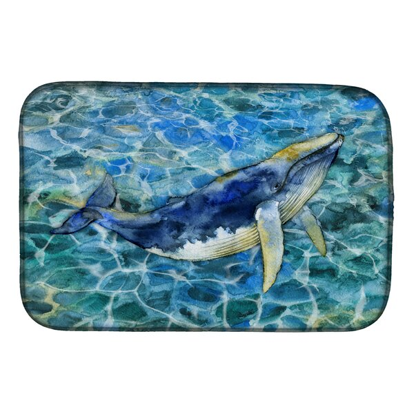 Humpback Whale Dish Drying Mat by Caroline's Treasures