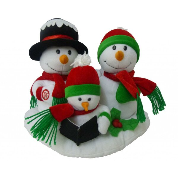 Singing Snowman Family Trio Musical Plush Toy with Motion by The Holiday Aisle