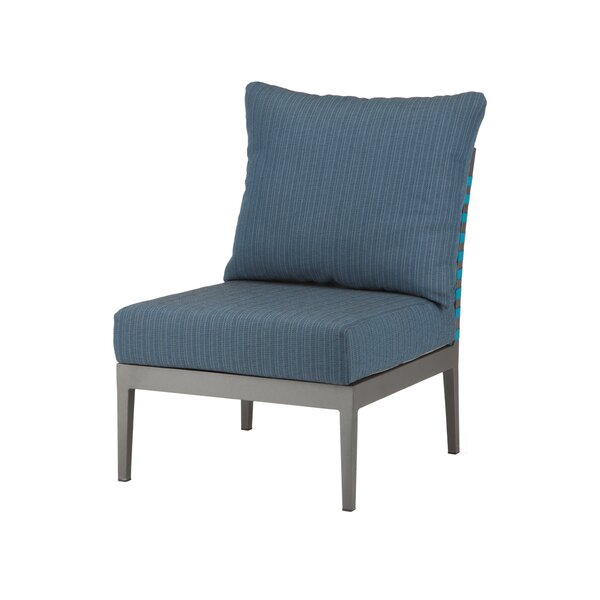 Weathers Armless Patio Chair By Bungalow Rose
