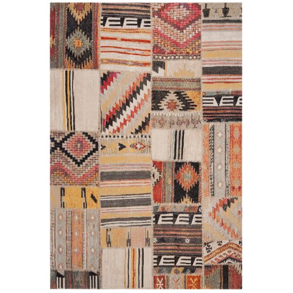 Griffeth Taupe/Beige Indoor/Outdoor Area Rug by Bungalow Rose
