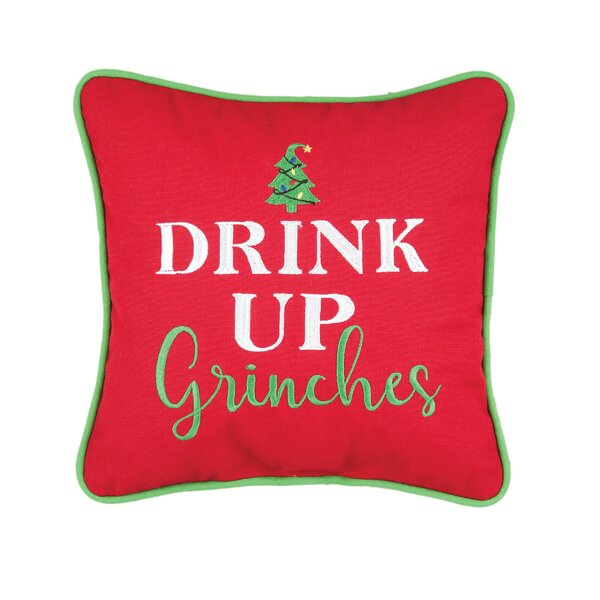 Maubara Grinches Cotton Throw Pillow by The Holiday Aisle
