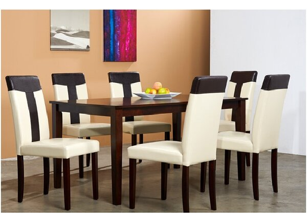 Saladin 7 Piece Solid Wood Dining Set by Winston Porter Winston Porter