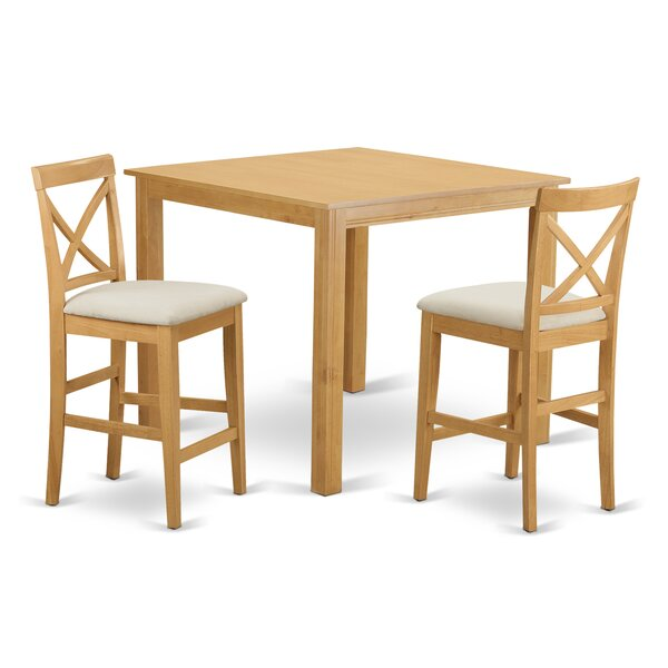 Cafe 3 Piece Counter Height Pub Table Set by East West Furniture East West Furniture